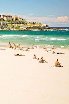 bondi beach australia....  I saw this picture and had flash backs to Christmas Day 3 years ago.... Ash, Mag, Mel, Nik and baby Lu !! Cheers Mate