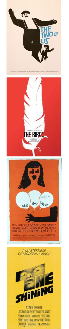 Beautiful vintage posters by famous vintage designer Saul Bass