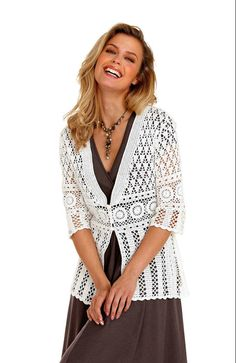 crochet cardigan for summer | ELEGANT spring / summer women crochet cardigan