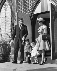 Family Leaving Worship Services #Vintage