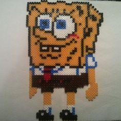 SpongeBob hama beads by styuvesant