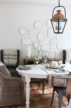 How to hang plates, platters and bowls on a wall // The Inspired Room blog