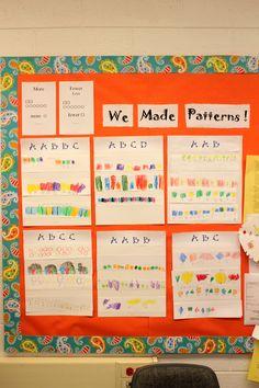 Teaching patterns Patterning Kindergarten, Kindergarten Lessons, Preschool Curriculum, Preschool Math, Math Classroom, Math Lessons, Teaching Math, Grade 2 Patterning Activities, Numbers Preschool