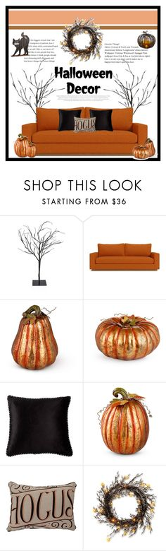 """Halloween decor"" by dailyfish on Polyvore featuring interior, interiors, interior design, home, home decor, interior decorating, Improvements, BIVAIN and Allstate Floral"