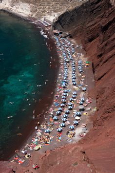 Akrotiri: High-Res Stock Photography: Red Beach Akrotiri Santorini