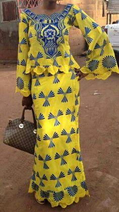 Malian Fashion bazin wax #Malifashion #bazin #malianwomenarebeautiful #dimancheabamako