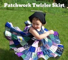indietutes: patchwork Twirler Skirt TUTORIAL