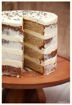 Earl Grey Tea Cake with Lavender Swiss Meringue Buttercream dessert