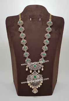 Silver Jewellery Indian, Gold Jewellery Design, Bridal Jewellery, Diamond Jewellery, Gold Jewelry, Wedding Jewelry, Diamond Necklace Set, Gold Necklace, Traditional