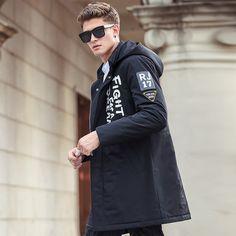 Men parkas long style winter jacket men brand clothing high quality
