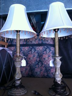Set of 2 Candlestick table lamps  Local Pick Up by JenCinAntiques, $24.99