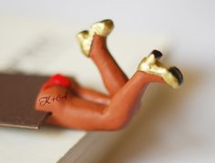 Sexy brown bookmark with personalized tattoo on butt. Chocolate brown skin. Monogrammed desk accessory for her, him, dude, man valentine