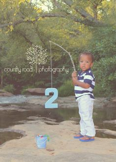 two, boy, fishing, birthday, toddler, https://www.facebook.com/CountryRdPhotography