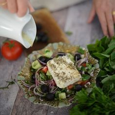 """""""Anyone got a rumbly in their tumbly? Check out our Greek salad recipe on the blog - perfect healthy lunch #recipe #yum #hungry #foodie #lunch"""" Photo taken by @notesbyastylist on Instagram, pinned via the InstaPin iOS App! http://www.instapinapp.com (09/15/2015)"""