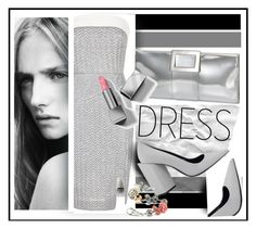 """""""metallic dress"""" by sandevapetq ❤ liked on Polyvore featuring Roland Mouret, Pierre Hardy, Roger Vivier and Burberry"""