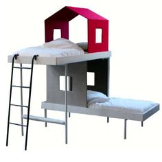 The Treehouse Bunk Bed Design by Aalto & Aalto is Part Playtime Part Power Nap #bedroom #beds trendhunter.com