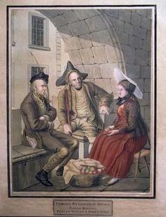 1819 Joseph Reinhard COSTUME of SOLOTHURN Publié par Birmann & Huber à Basle