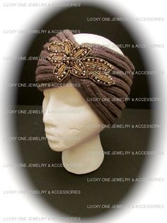 Sophia Head Warmer in Taupe available @ www.luckyonejewelry.com $25.00