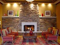 Northwest-like architecture and warm stone fireplace welcomes you!