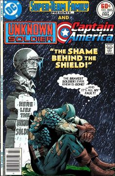 Super-Team Family: The Lost Issues!: The Unknown Soldier and Captain America Marvel Comics Superheroes, Marvel E Dc, War Comics, Batman Comics, Dc Comic Books, Comic Book Covers, Comic Book Heroes, Comic Art, Gi Joe