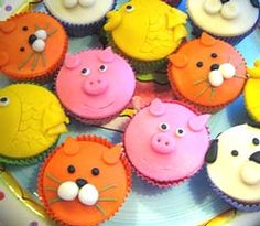Birthday Treats, Animal Party, Kids Meals, Cupcakes, Muffins, Healthy Eating, Sweet, Pretty, Desserts