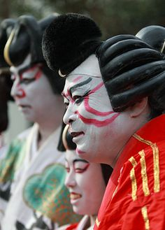 "Kabuki actors at Chichibu Night Festival, in Chichibu, Japan. Chichibu, the real life counterpart to Titipu, even stages its own production of ""The Mikado""."