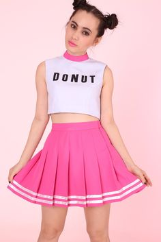 Glitters For Dinner — MADE TO ORDER - GFD Donut Cheerleading Crop Top