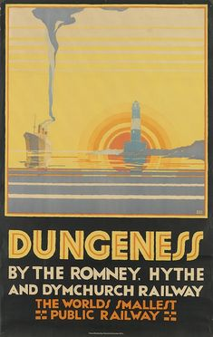 N. CRAMER ROBERTS (DATES UNKNOWN) DUNGENESS / BY THE ROMNEY, HYTHE AND DYMCHURCH RAILWAY. 1928.