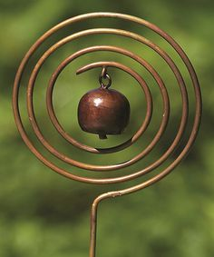 Bronzed Circle Bell Garden Stake by Ancient Graffiti Outdoor Crafts, Outdoor Art, Outdoor Gardens, Outdoor Decorations, Indoor Garden, Metal Garden Art, Metal Art, Wire Crafts, Metal Crafts