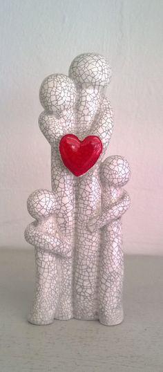 le cadeau de famille raku d'amour des par MartinONeillceramics