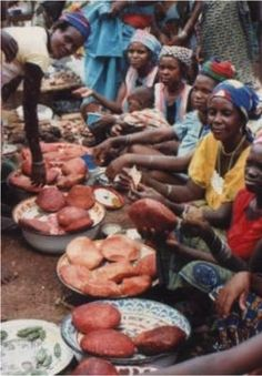 Warankesi cheese being sold in Benin