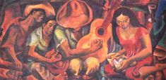 """See more works of the great Filipino artist, Carlos V. Francisco aka """"Botong"""", the father of modern arts in the Philippines. Filipino Art, Filipino Culture, Modern Art, Contemporary Art, Philippine Art, Spanish Music, Artists Like, My Arts, Fine Art"""
