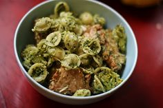 Hazelnut Pesto with Vegan Chicken, Broccoli and Orecchiette Pasta.