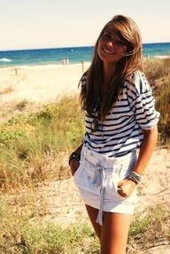Summer...like the high waist with buttons and slightly loose top