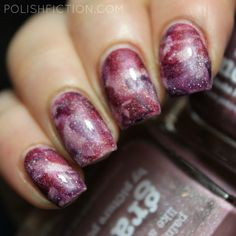 Stamper marbling with piCture pOlish Grace, Moscow and Karma