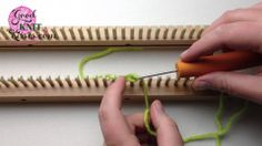 Loom Knitting Cast On Series: Purl Cast On