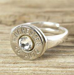 Bullet Ring Sterling Silver Adjustable