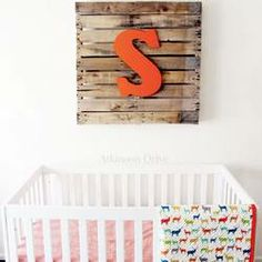 Rock What Ya Got || 1 11. Rustic Nursery Pallet Art