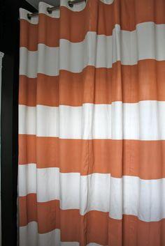 DIY Horizontal Stripe Shower Curtain Courtesy Of Dwellings By DeVore