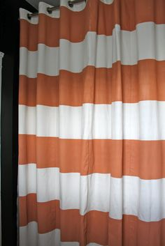 Horizontal Stripe Shower Curtain Kitchen Shower Curtain