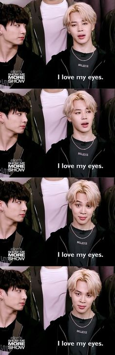 This is so me like when I had like really hard depression my eyes where the only thing I liked. Ahahah jiminie we love your eyes too. What a cute mochi.♥