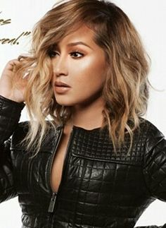 Ombre bob on adrienne bailon
