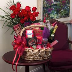 Why not consider putting together a meaningful home, spa or snack basket for the bride & groom!