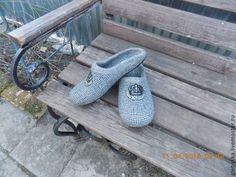 """Обувь ручной работы. Ярмарка Мастеров - ручная работа Тапочки """"В клеточку"""". Handmade."""