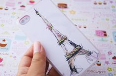 Eiffel Tower of Paris with Rhinestones Print by puredelusions, $14.99