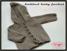 bags'n style: gestrickte babyjacke - knitted baby jacket