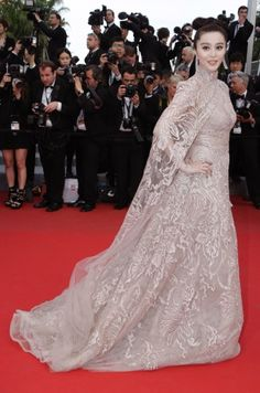 Actress Fan Bing Bing amps up the drama in nude-colored lace