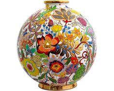 Boule Coloniale Flora Nicolas de Wael - Emaux de Longwy