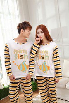 CC00541 Long sleeve homewear sets cartoon couples pajamas