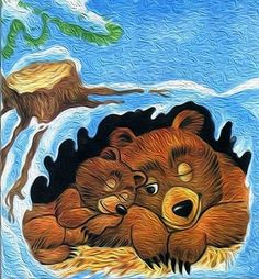 zimný spánok Winter Crafts For Kids, Art For Kids, Animals That Hibernate, Teddy Bear Hug, Animal Puzzle, Animal Habitats, Animal Activities, Art Sites, Wildlife Art